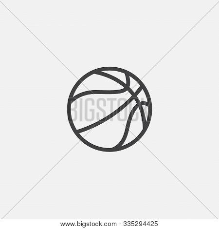 Simple Element Illustration From Basketball In Linear Style, Basketball Ball Sign Icon Symbol Design