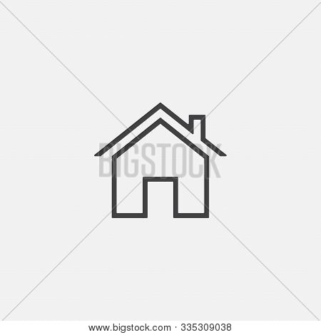 House Or Home Vector Icon In Linear Style, Home Vector Icon Illustration Sign, Home Simple Icon, Sma