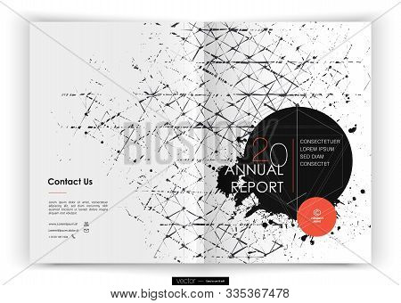 Cover Design Annual Report, Vector Template Brochures, Flyers, Presentations, Leaflet, Magazine A4 S