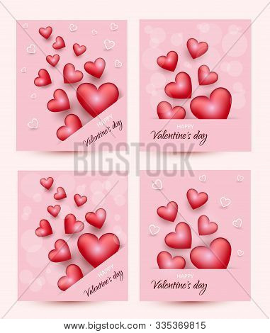 Valentines day, mouse on pink background, postcard, Valentines day, February 14 in vector EPS 10. Valentine, valentine day, Valentines Day background, Valentine's day banners, Valentines Day flyer, Valentines Day design, Valentines Day with Heart on pink