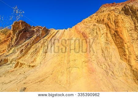 Closeup Of Vivid Colors Of Ochre Pits A Minerals Rock Formation Ochre In West Mcdonnell Ranges, Nort