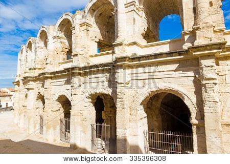 The Arles Amphitheatre Is A Roman Amphitheatre Built In 90 Ad In Southern France