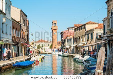 Murano, An Island In The Venetian Lagoon.