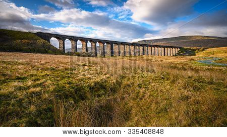 Railway Viaduct At Ribblehead, Which Carries The Settle To Carlisle Railway Across Batty Moss Spanni