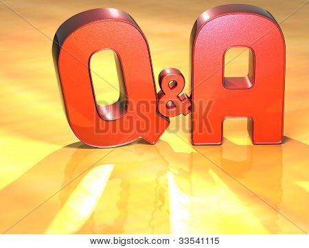 Word Q&a On Yellow Background