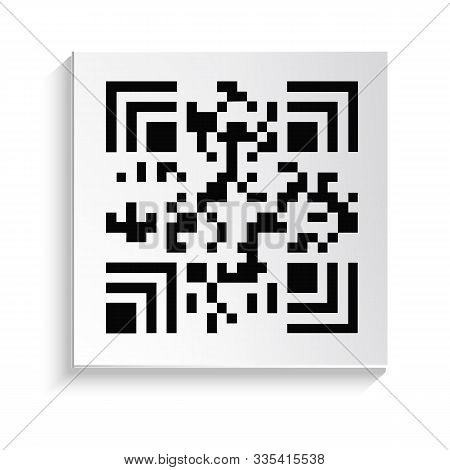 Qr Code Isolated Icon, Product Sticker With Hidden Serial Number