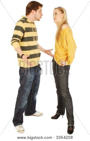 A Quarrel Between Young Man And Woman