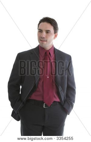 Male Model In Business Suit