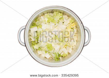 Peking Cabbage.background Of Fresh Peking Cabbage.chinese Cabbage.
