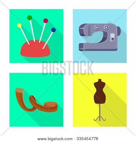 Vector Design Of Craft And Handcraft Symbol. Collection Of Craft And Industry Stock Symbol For Web.