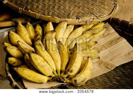 Some Bananas On A Plate