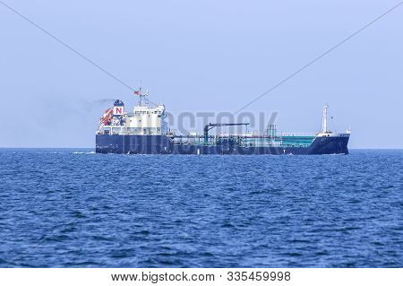 Large oil tankers at sea , Tankers are vessels designed for the transportation of crude oil in order