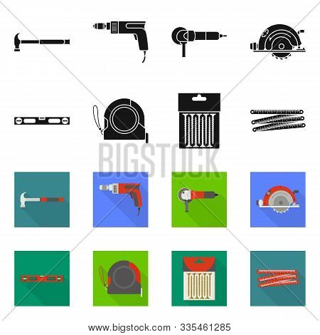 Vector Illustration Of Household And Repair Icon. Collection Of Household And Overhaul Stock Symbol