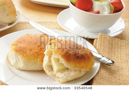 Biscuits And Fruit Salad