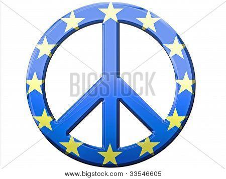 EU Metallic Peace Sign