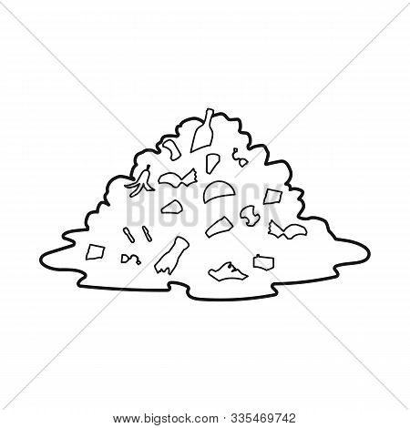 Vector Design Of Landfill And Trash Symbol. Web Element Of Landfill And Dump Stock Symbol For Web.
