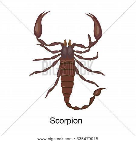 Scorpion Vector Icon.cartoon Vector Icon Isolated On White Background Scorpion.
