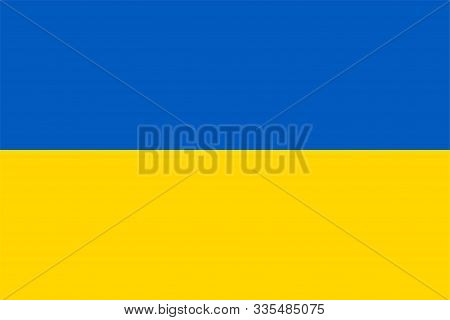 The Original Flag Of Ukraine,vector Illustration The Color Of The Original, Official Colors And Prop