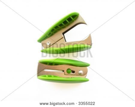 Two Light-Green Anti-Staplers