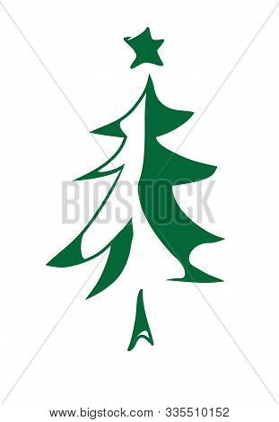 Vector Illustration Of An Abstract Christmas Tree.