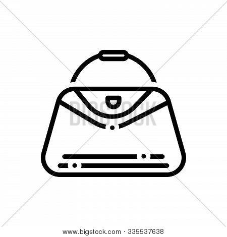Black Line Icon For  Handbags  Bag Purse  Woman-purse  Fashion Accessory