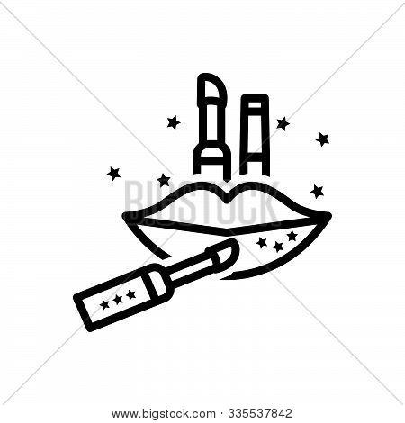 Black Line Icon For Lip-gloss  Lip Gloss Lipstick Smudge Cosmetics