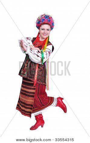 Girl In National Ukrainian (russian) Costume