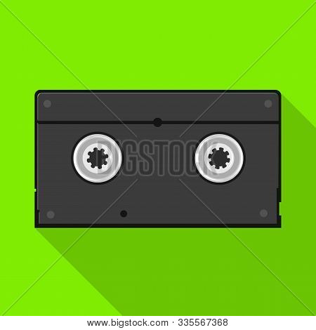Isolated Object Of Videotape And Reel Sign. Web Element Of Videotape And Videocassette Stock Symbol
