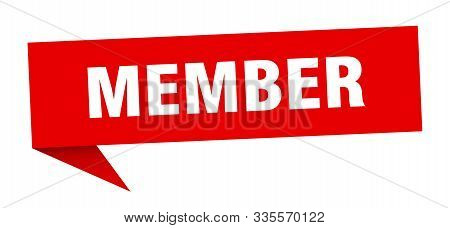 Member Speech Bubble. Member Sign. Member Banner