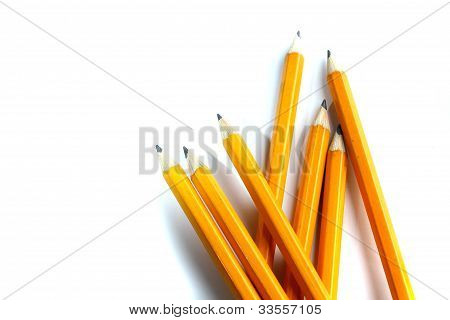 Simple Pencils In A Row