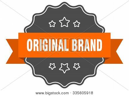 Original Brand Isolated Seal. Original Brand Orange Label. Original Brand
