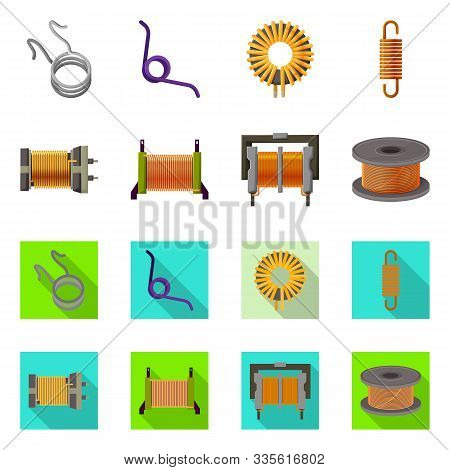 Isolated Object Of Compression And Torsion Symbol. Set Of Compression And Technology Stock Vector Il