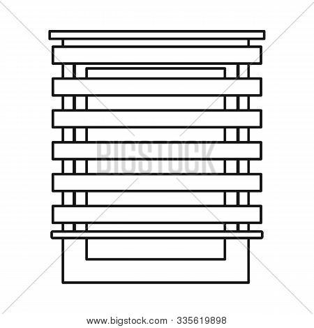Isolated Object Of Jalousie And Roll Logo. Graphic Of Jalousie And Wooden Stock Vector Illustration.