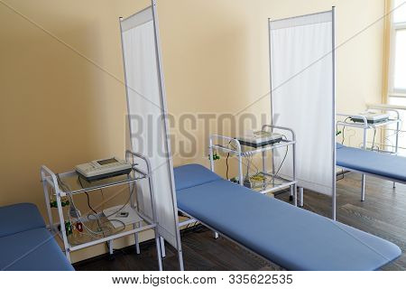 Hospital Room With Beds And Medical Equipped In A Hospital, Medicine And Health Care Concept.
