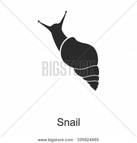 Insect Snail Vector Icon.black Vector Icon Isolated On White Background Insect Snail .