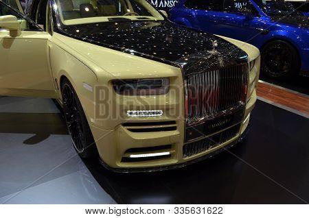Geneva, Switzerland, March 06-2018: Rolls Royce Mansory Bushukan Edition At Gims