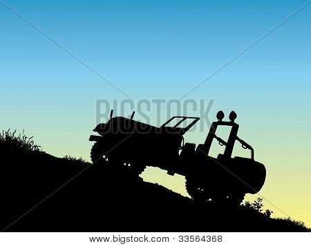 jeep on a mountain