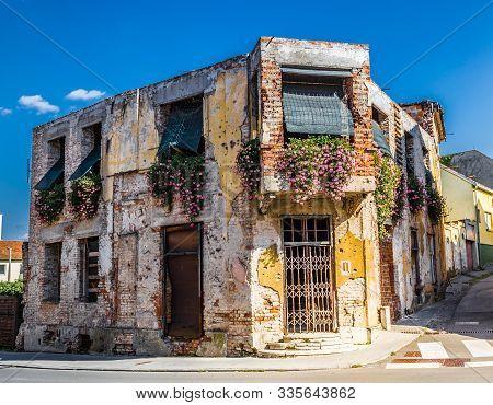 Famous Destroyed Building In Vukovar City Center - Vukovar, Podunavlje, Croatia, Europe