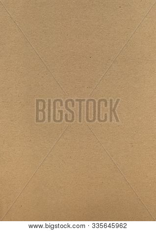Kraft Paper. Brown Kraft Cardboard Background. Sheet Of Wrapping Paper