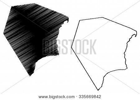 Al Wusta Governorate (sultanate Of Oman, Governorates Of Oman) Map Vector Illustration, Scribble Ske