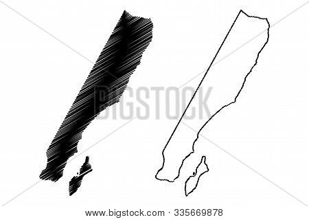 Ash Sharqiyah South Governorate (sultanate Of Oman, Governorates Of Oman) Map Vector Illustration, S