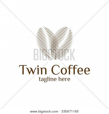 Minimalist Logo Various Stages Of Coffee Beans Roasted From Green To Dark Brown Isolated On White Ba