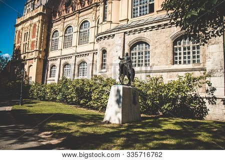 Budapest, Hungary - September 13, 2019: The Famous Tourist Attraction Vajdahunyad Castle Also Known