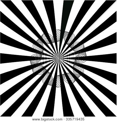 Sun Rays Black White, Abstract Background Explosion Starburst Ray