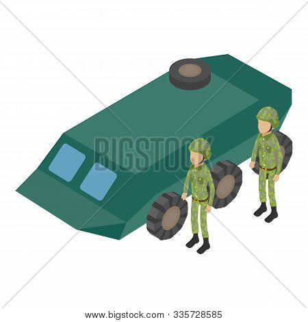 Ground Troops Icon. Isometric Illustration Of Ground Troops Vector Icon For Web