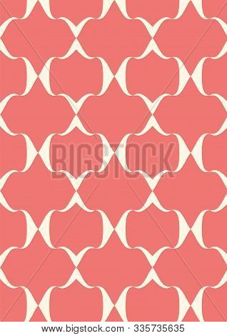 Geometric Background Template, Flat Design, Abstract Trellis Pattern, Abstract Texture, Colorful Vec