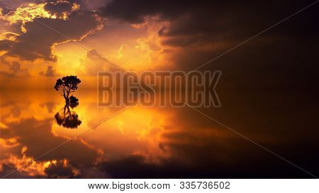 In Images Scenic View Of Island During Sunset
