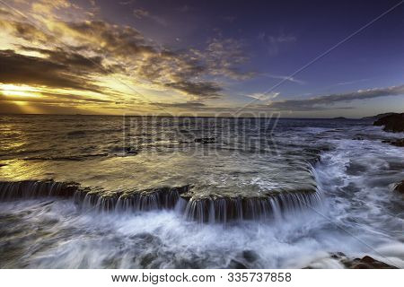 In Images Scenic Image Of Iceland. Incredible Nature Scenery During Sunset. Great View On Famous Mou