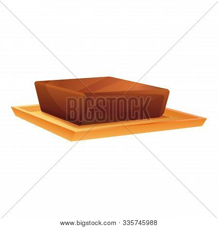 Cocoa Butter Icon. Cartoon Of Cocoa Butter Vector Icon For Web Design Isolated On White Background
