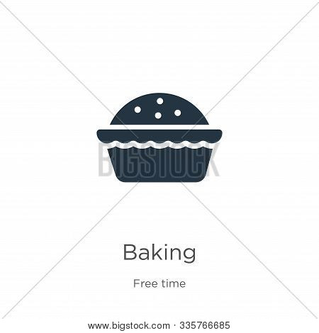 Baking Icon Vector. Trendy Flat Baking Icon From Hobbies Collection Isolated On White Background. Ve